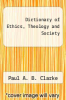 cover of Dictionary of Ethics, Theology and Society