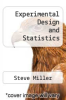 cover of Experimental Design and Statistics (2nd edition)