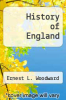 cover of History of England (3rd edition)