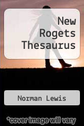 Cover of New Rogets Thesaurus EDITIONDESC (ISBN 978-0425039915)
