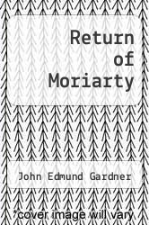 Cover of Return of Moriarty EDITIONDESC (ISBN 978-0425050934)