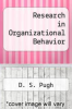 cover of Research in Organizational Behavior