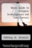 cover of Basic Guide to Accident Investigation and Loss Control (1st edition)