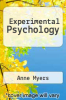 cover of Experimental Psychology