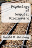 cover of Psychology of Computer Programming