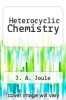 cover of Heterocyclic Chemistry (2nd edition)