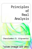 cover of Principles of Real Analysis
