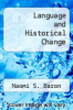 cover of Language and Historical Change