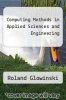 cover of Computing Methods in Applied Sciences and Engineering