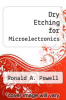 cover of Dry Etching for Microelectronics