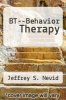 cover of BT--Behavior Therapy