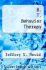 cover of B. T. Behavior Therapy