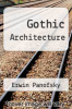 cover of Gothic Architecture