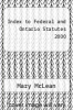 cover of Index to Federal and Ontario Statutes 2000