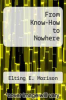 cover of From Know-How to Nowhere