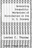 cover of Generating Inequality: Mechanisms of Distribution in the U. S. Economy