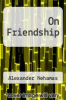 cover of On Friendship