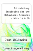 Introductory Statistics for the Behavioral Sciences -  With 14.0 CD by Joan Welkowitz - ISBN 9780470056004