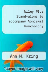 Cover of Wiley Plus Stand-alone to accompany Abnormal Psychology 1 (ISBN 978-0470076033)