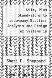 Cover of Wiley Plus Stand-alone to accompany Statics: Analysis and Design of Systems in Equilibrium  (ISBN 978-0470076286)