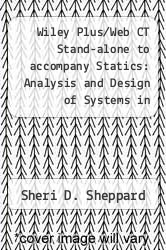 Cover of Wiley Plus/Web CT Stand-alone to accompany Statics: Analysis and Design of Systems in Equilibrium  (ISBN 978-0470079560)