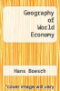 cover of Geography of World Economy ( edition)
