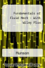 Fundamentals of Fluid Mech - With Wiley Plus by Munson - ISBN 9780470103852
