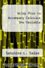 cover of Wiley Plus to Accompany Calculus One Variable (10th edition)