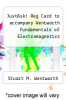 cover of JustAsk! Reg Card to accompany Wentworth Fundamentals of Electromagnetics