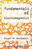 cover of Fundamentals of Electromagnetics