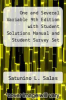 cover of One and Several Variable 9th Edition with Student Solutions Manual and Student Survey Set