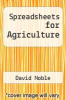 cover of Spreadsheets for Agriculture (1st edition)