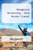 Managerial Accounting - With Access (Loose) by Weygandt - ISBN 9780470281390