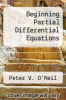 cover of Beginning Partial Differential Equations (2nd edition)