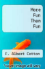 cover of More Fun Than Fun (1st edition)