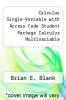 cover of Calculus Single-Variable with Access Code Student Package Calculus Multivariable w/Access Code Study and Solutions Companion SV/MV Set