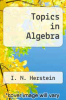 cover of Topics in Algebra