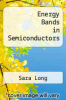 cover of Energy Bands in Semiconductors ( edition)
