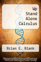 Cover of Wp Stand Alone Calculus  (ISBN 978-0470916179)