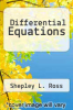 cover of Differential Equations (2nd edition)