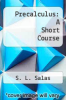 cover of Precalculus: A Short Course