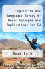 cover of Linguistics and Languagea Survey of Basic Concepts and Implications 2nd Ed ( edition)