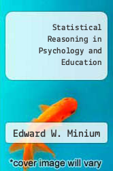 Cover of Statistical Reasoning in Psychology and Education 2 (ISBN 978-0471036333)