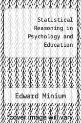 Cover of Statistical Reasoning in Psychology and Education 2 (ISBN 978-0471040460)
