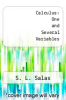 cover of Calculus: One and Several Variables (3rd edition)