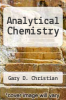 cover of Analytical Chemistry (3rd edition)