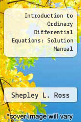 Cover of Introduction to Ordinary Differential Equations: Solution Manual 3 (ISBN 978-0471057758)
