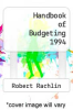 cover of Handbook of Budgeting 1994 (3rd edition)
