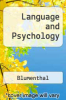 cover of Language and Psychology
