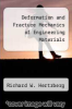 cover of Deformation and Fracture Mechanics of Engineering Materials (2nd edition)